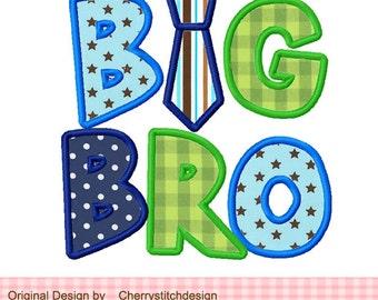 "BIG BRO Machine Embroidery Applique Design - 4x4 5x5 6X6"""