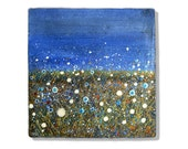Flower Fields Summer Nights. Small Painting by Rachel Jenkinson