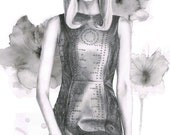 Abbey lee kershaw - LIMITED EDITION PRINT - A4