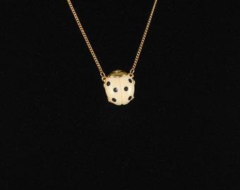 Ladybug Vintage Ladybug Necklace Ladybug Pendant 1960s Small Ladybug