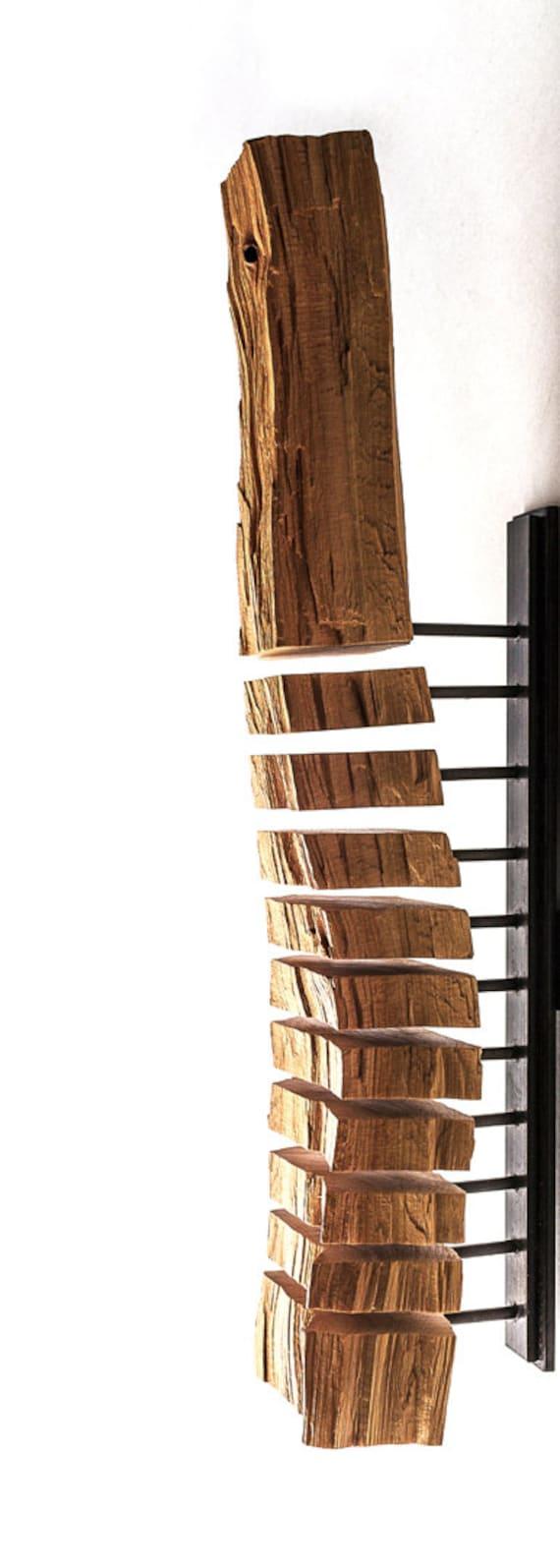 Wood wall sculpture minimalist art modern art abstract for Art moderne sculpture