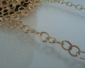 Flat Off-Round Chain Gold 6.5x7.25mm 1Ft C1114