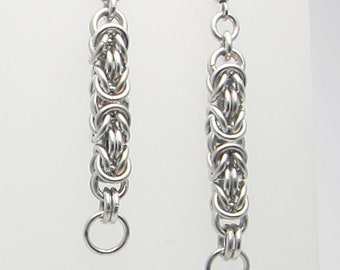 Byzantine Chainmaille Earrings Handmade