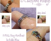 Wire Wrap Clasp Rings Tutorial, 3 FULL VARIATIONS, Wire Jewelry Tutorial Discount Package - Instant Download Pdf Files