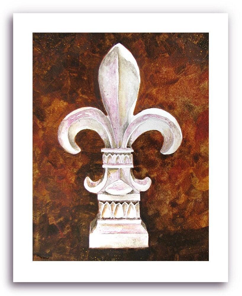 Fleur De Lis Art Fleur Ceramique Prints Signed And