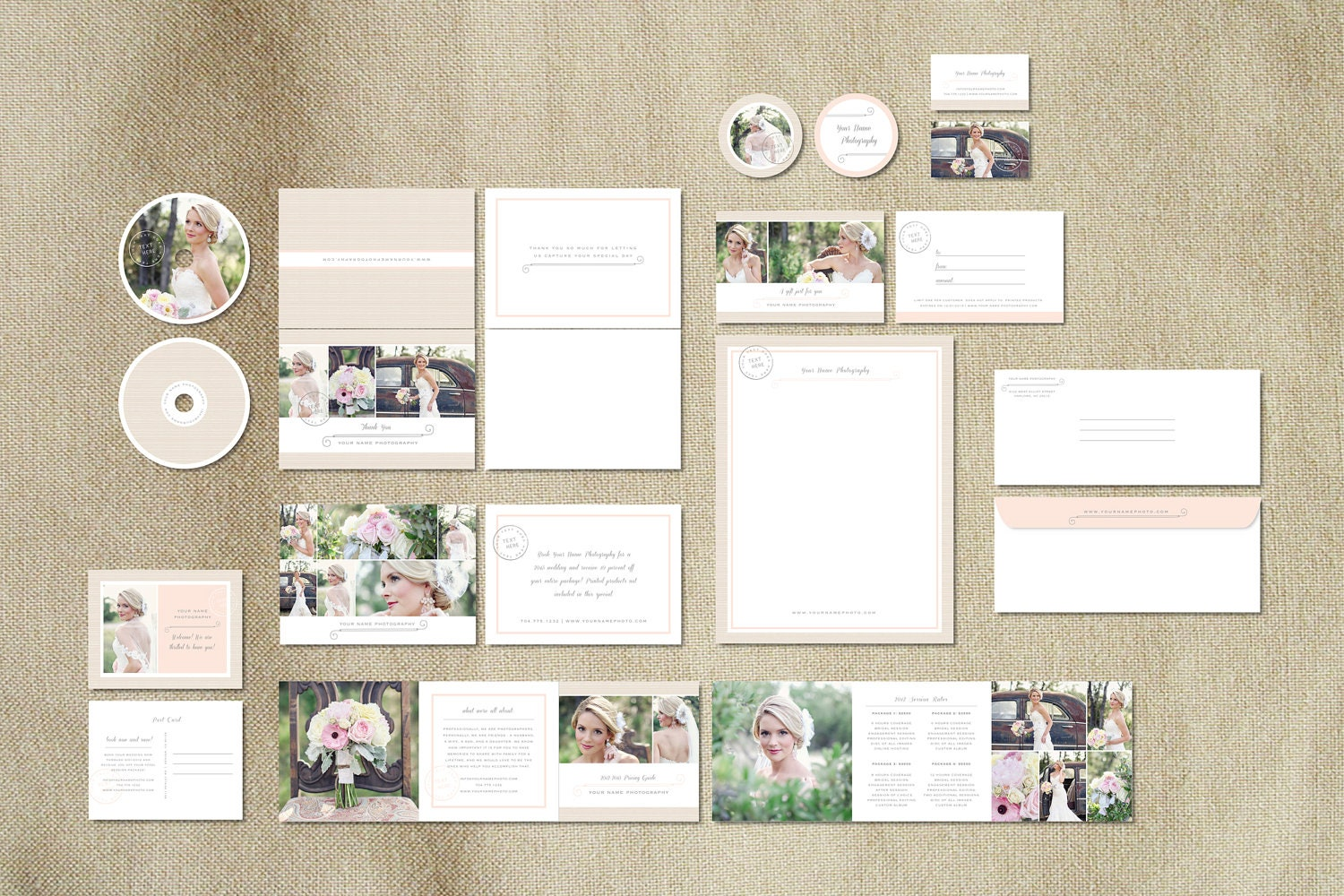 marketing templates for wedding by designbybittersweet on etsy