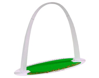 Gateway Arch, kit for building a paper model of St.Louis landmark // available in full color and two sizes