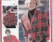 80s Cropped Bomber Jacket Pattern  Burda 5505 Vintage Sewing Pattern UNCUT Factory Folded Multi Sized Size 10 12 14 16 18