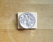 Full Moon - Small Hand-Carved Rubber Stamp