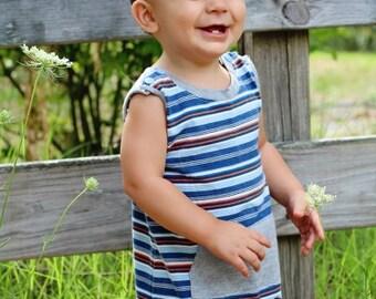 Lazy Day Romper: Baby Romper Pattern, Baby Jon Jon Pattern, Boys Romper Pattern, Toddler Romper Pattern