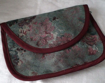 Handmade Personal Items Bag, Jewelry Bag, Travel Bag, Gift Bag, Rich Brocade -- Treasury Item