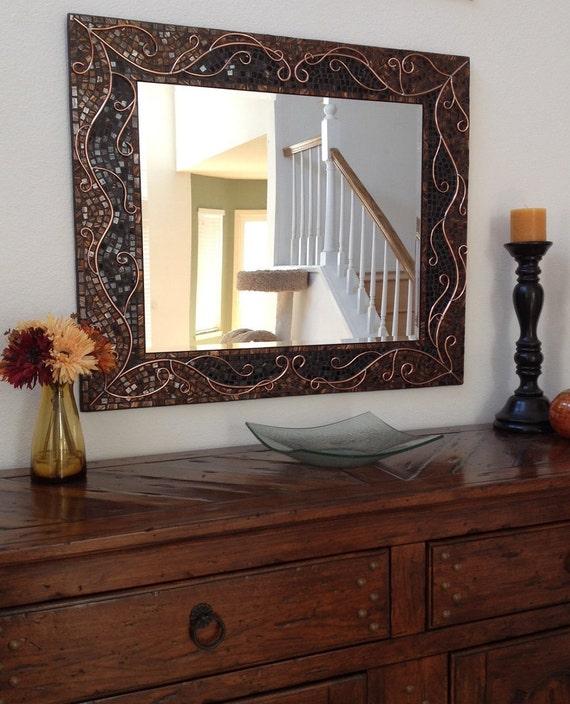 Large Decorative Mosaic Mirror Bathroom Mirror Home