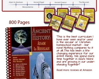 Ancient History: Adam to Messiah eBook (800 Pages) by Homeschool Author Robin Sampson