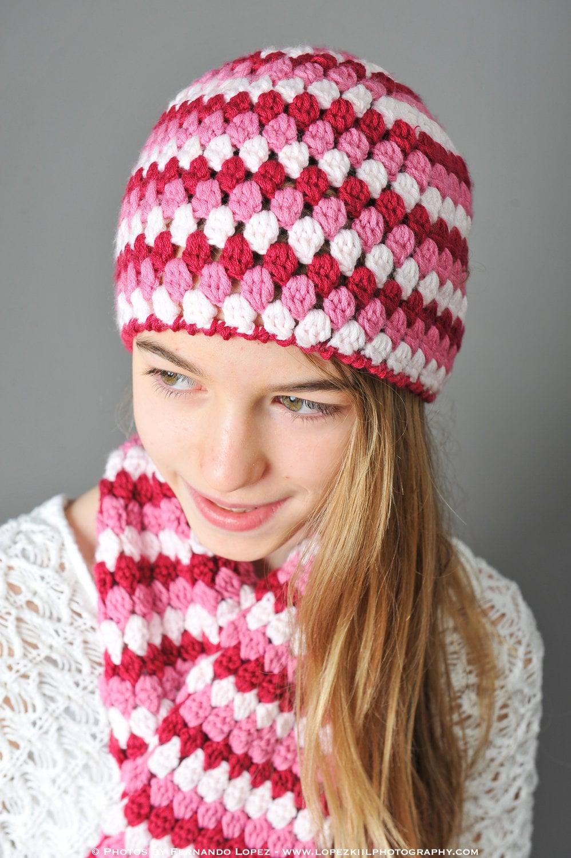 Crochet Pattern Mod Hat 3 sizes: toddler child