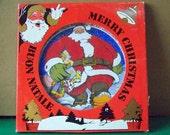 "Merry Christmas - Il piato di Natale - Porcellane Liberty - Plate -  11,8"" - VTG - Made in Italy"