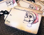 Printable Santa Skull Gift Tag PDF Rockabilly Christmas labels download print your own Ready To Ship