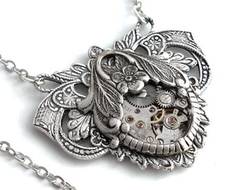 A Time for Romance - Steampunk Necklace