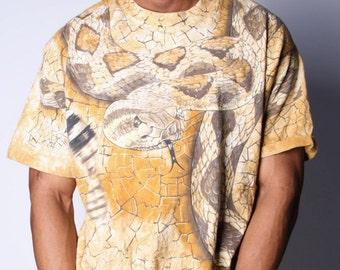90s Vintage Desert Snake Scorpian Reptile Tshirt 00246s