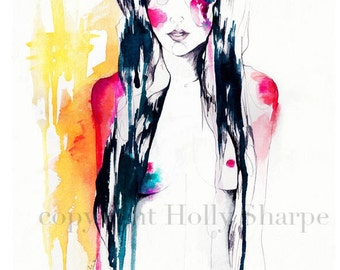 Midnight // A3 giclée print from an original WATERCOLOR by Holly Sharpe