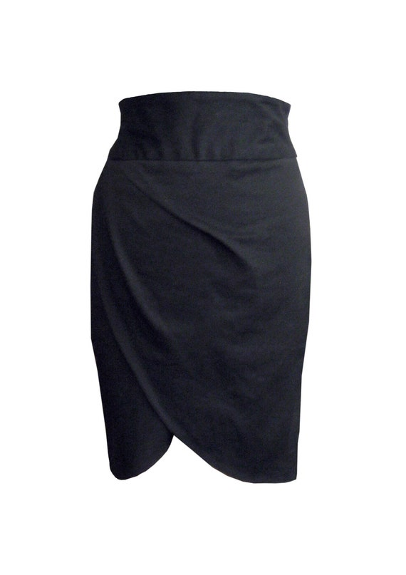 Black Pencil Skirt, High Waisted Skirt, Plus Size Skirt, Designers Skirt, Cotton Skirt, Women Black Skirt