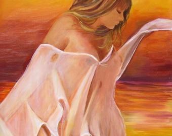 "Dancer Giclee Print on Canvas - ""Dream""  Size 24""x36"""