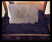 Gorgeous One Off Grey Leather Clutch Bag