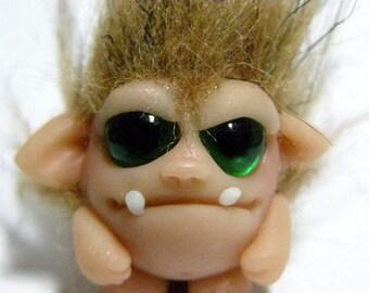 "OOAK Monster Trollfling Troll doll Mini ""Buddy"" by Amber Matthies"