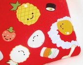 Kawaii Fruits Zippered Pouch / Padded Anthropomorphic Camera Case / Gadget Protector / Coin Purse / Card Holder -- Other Colors Available