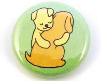 Doggie Hugs Button