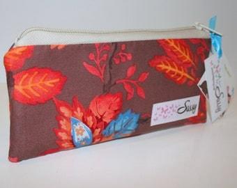 Makeup Bag, Small Size Cosmetic Bag, Travel Make up Bag, Lined Makeup Bag