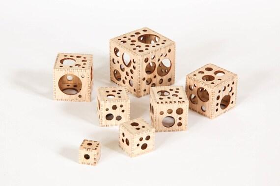 7 Holey Cubes in Oak