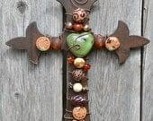 Rustic Fleur de Lis Wall Cross