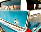 Blue Rambler - classic car - Fine Art Photography Print 11x14