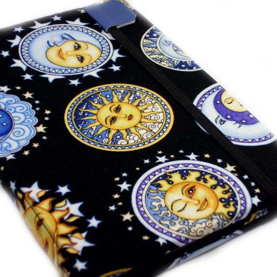Kindle cover or case - Sun Moon Stars - kindle 4 harcover -