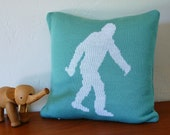 Yeti / Sasquatch/ Bigfoot Knit Pillow Cover