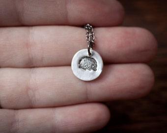 Hedgehog Necklace - Hedgehog Pendant, Hedgehog Charm -  Animal Pendant Necklace, Everyday Necklace, Gift Necklace, Minimalist Jewelry, Gift