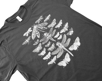 Insects T-Shirt - Winged Insect Collection Mens Shirt - Available in sizes S, M, L, XL