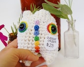 Chakra Zen Mini Monster OOAK Crochet Amigurumi Holiday Gift Plush - Made To Order - knotbygranma