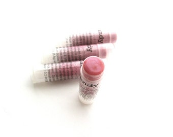 Pink Tinted Lip Balm - Sheer Pale Pink Lip - Vegan Mineral Makeup -see 2nd pic for applied SHEER color