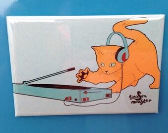 SALE DJ Cat 2 x 3 magnet
