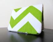 Card Wallet - Spring Green Chevron