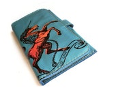 Unicorn Wallet in Blue Leather by BonspielCreation