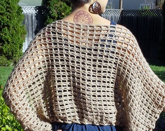 Crochet X Stitch Shrug : Crochet Cardigan Shrug Pattern: The X-Stitch Shrug by TheYarnYogi