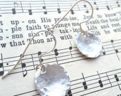 Custom Hammered Sterling Silver Disc Earrings - simple and perfect for everyday wear