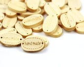 CLEARANCE 20pcs Natural Wood Handmade Oval Connector 19x12mm 3/4 inch x1/2 inch