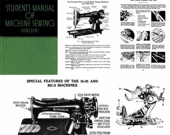 1939 Singer Student Featherlight Vintage Sewing Machine Manual Guide How-to