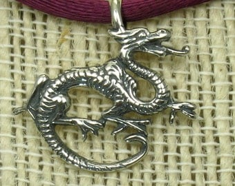 Small Dragon, solid Sterling Silver,