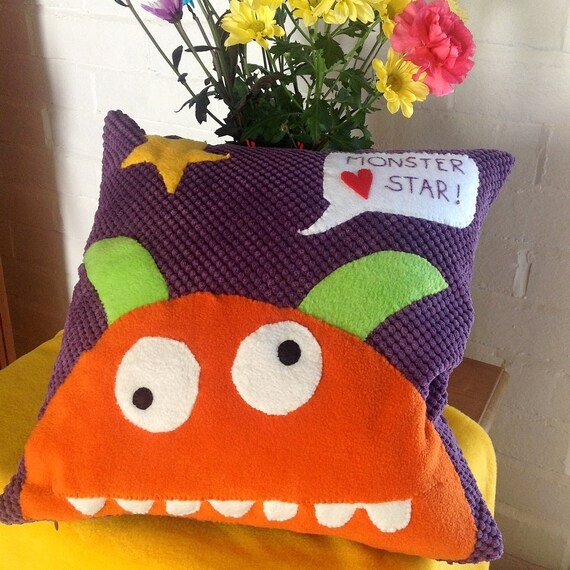 RESERVED FOR WIN 4 xMonster Hearts Star/Bird/Kitty/Fish Cushions