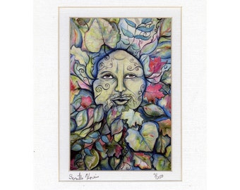 Celtic Summer Greenman Green Man signed and numbered print