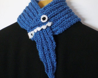 Monster Scarf - Bright Blue - Cotton / Acrylic